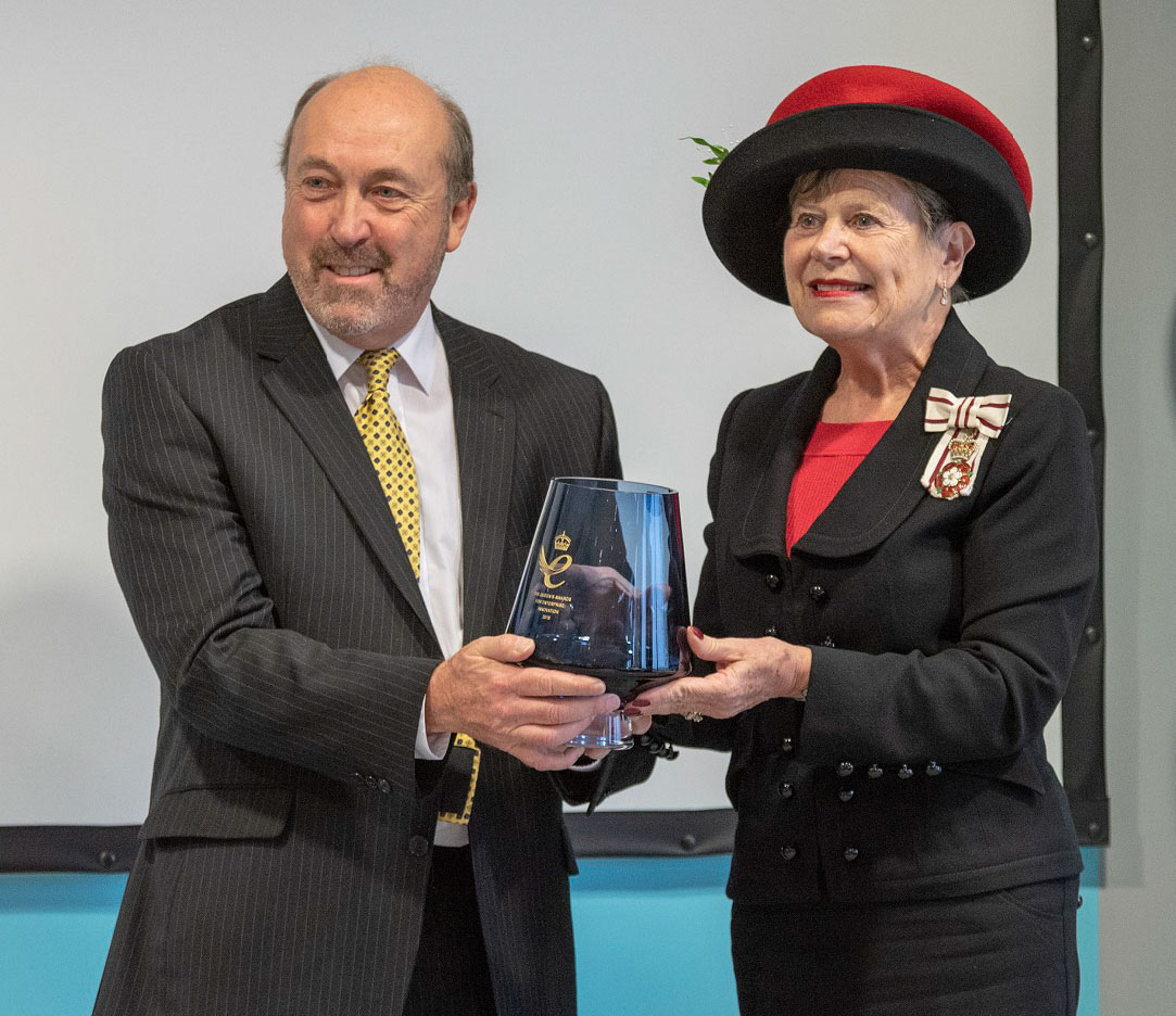 Trevor Honeyman Accepts Queens Award for Innovation